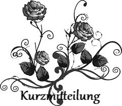 die schönen rosen blog - logo - kurzmitteilung